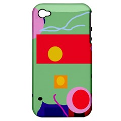 Optimistic Abstraction Apple Iphone 4/4s Hardshell Case (pc+silicone) by Valentinaart