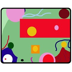 Optimistic Abstraction Double Sided Fleece Blanket (medium)  by Valentinaart