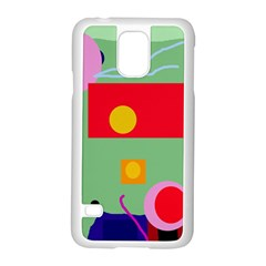 Optimistic Abstraction Samsung Galaxy S5 Case (white) by Valentinaart