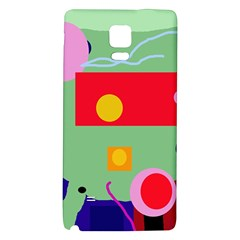 Optimistic Abstraction Galaxy Note 4 Back Case by Valentinaart