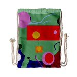 Optimistic abstraction Drawstring Bag (Small) Front
