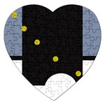 Abstract design Jigsaw Puzzle (Heart) Front
