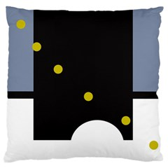 Abstract Design Large Flano Cushion Case (one Side) by Valentinaart