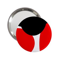 Red, Black And White 2 25  Handbag Mirrors by Valentinaart
