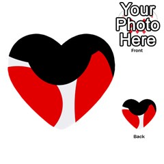 Red, Black And White Multi Purpose Cards (heart)  by Valentinaart