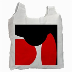 Red, Black And White Recycle Bag (two Side)  by Valentinaart