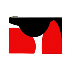 Red, Black And White Cosmetic Bag (large)  by Valentinaart