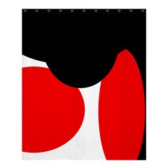 Red, Black And White Shower Curtain 60  X 72  (medium)  by Valentinaart