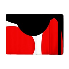 Red, Black And White Ipad Mini 2 Flip Cases by Valentinaart