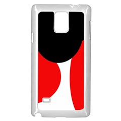 Red, Black And White Samsung Galaxy Note 4 Case (white) by Valentinaart