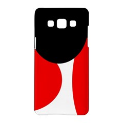 Red, Black And White Samsung Galaxy A5 Hardshell Case  by Valentinaart