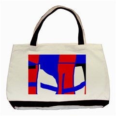 Blue, Red, White Design  Basic Tote Bag (two Sides) by Valentinaart