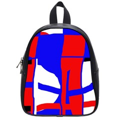 Blue, Red, White Design  School Bags (small)  by Valentinaart