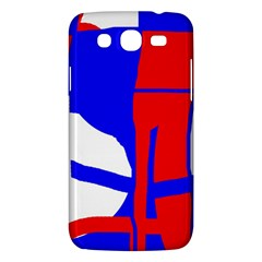 Blue, Red, White Design  Samsung Galaxy Mega 5 8 I9152 Hardshell Case  by Valentinaart