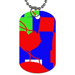 Abstract Hart Dog Tag (one Side) by Valentinaart