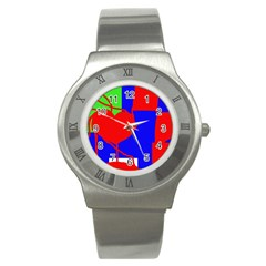 Abstract Hart Stainless Steel Watch by Valentinaart