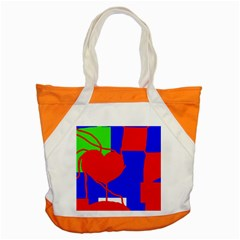Abstract Hart Accent Tote Bag by Valentinaart