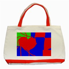 Abstract Hart Classic Tote Bag (red) by Valentinaart