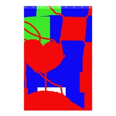 Abstract Hart Shower Curtain 48  X 72  (small)  by Valentinaart