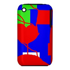 Abstract Hart Apple Iphone 3g/3gs Hardshell Case (pc+silicone) by Valentinaart