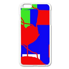 Abstract Hart Apple Iphone 6 Plus/6s Plus Enamel White Case by Valentinaart
