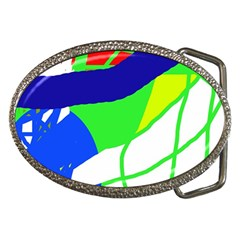 Colorful Abstraction Belt Buckles by Valentinaart