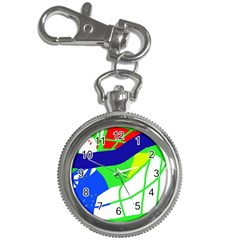 Colorful Abstraction Key Chain Watches by Valentinaart