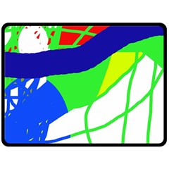 Colorful Abstraction Fleece Blanket (large)  by Valentinaart