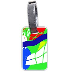 Colorful Abstraction Luggage Tags (two Sides) by Valentinaart