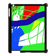Colorful Abstraction Apple Ipad 3/4 Case (black) by Valentinaart