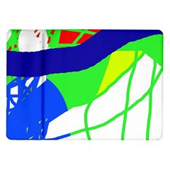 Colorful Abstraction Samsung Galaxy Tab 10 1  P7500 Flip Case by Valentinaart