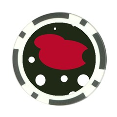 Red, Black And White Abstraction Poker Chip Card Guards (10 Pack)  by Valentinaart