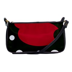 Red, Black And White Abstraction Shoulder Clutch Bags