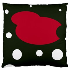 Red, Black And White Abstraction Large Cushion Case (two Sides) by Valentinaart