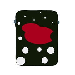 Red, Black And White Abstraction Apple Ipad 2/3/4 Protective Soft Cases by Valentinaart