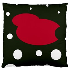 Red, Black And White Abstraction Standard Flano Cushion Case (one Side) by Valentinaart