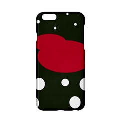 Red, Black And White Abstraction Apple Iphone 6/6s Hardshell Case by Valentinaart