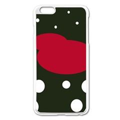 Red, Black And White Abstraction Apple Iphone 6 Plus/6s Plus Enamel White Case by Valentinaart