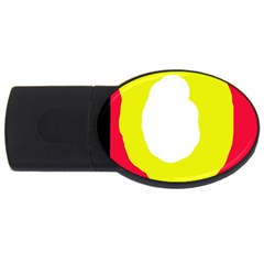 Colorful Abstraction Usb Flash Drive Oval (2 Gb)  by Valentinaart