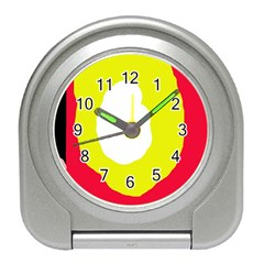 Colorful Abstraction Travel Alarm Clocks by Valentinaart