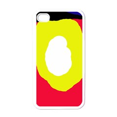 Colorful Abstraction Apple Iphone 4 Case (white) by Valentinaart
