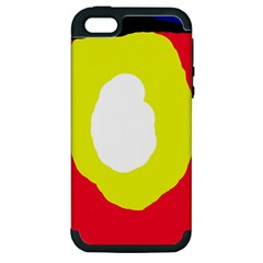Colorful Abstraction Apple Iphone 5 Hardshell Case (pc+silicone) by Valentinaart