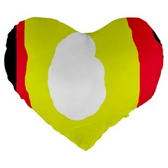 Colorful Abstraction Large 19  Premium Flano Heart Shape Cushions by Valentinaart