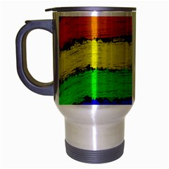 Rainbow Travel Mug (silver Gray) by Valentinaart