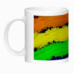 Rainbow Night Luminous Mugs by Valentinaart