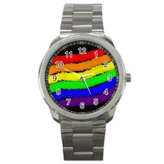 Rainbow Sport Metal Watch by Valentinaart