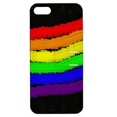 Rainbow Apple Iphone 5 Hardshell Case With Stand by Valentinaart