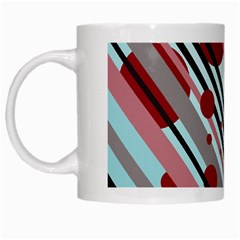 Colorful Lines And Circles White Mugs
