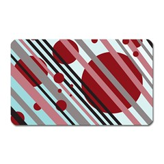 Colorful Lines And Circles Magnet (rectangular) by Valentinaart