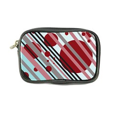 Colorful Lines And Circles Coin Purse by Valentinaart